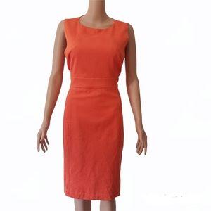 Laura Ashley Orange Dress AU 12 Pencil Skirt